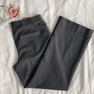 LOFT Grey Wool Blend Tweed Dress Trousers, Size 12